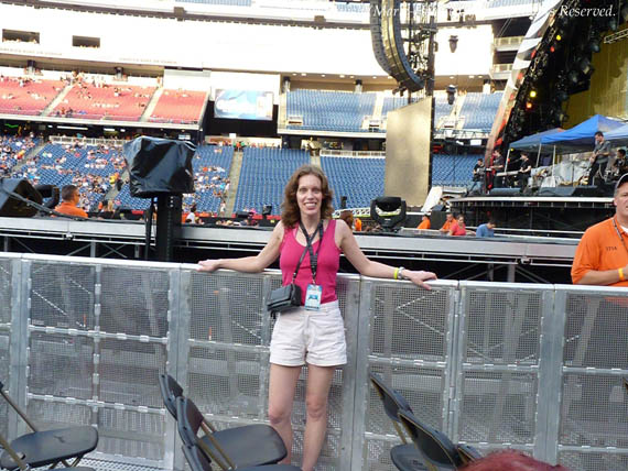 Marie-Hélène Cyr - Bon Jovi show at the Gillette Stadium, MA, USA (July 24, 2010)